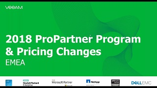 Veeam ProPartner Briefing Q1-2018: on our way to $1Bln
