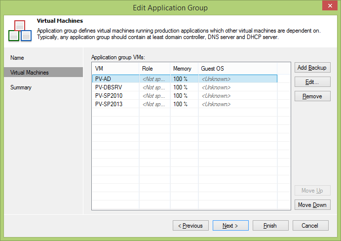 Creating an Application Group