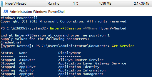 Windows PowerShell Direct - What's new in Hyper-V 2016