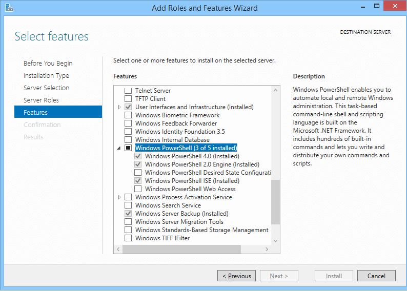 microsoft media feature pack windows server 2012