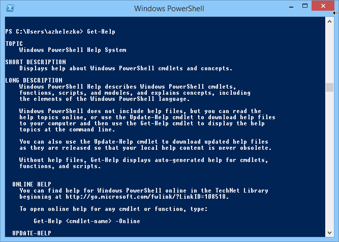 powershell 4.0 windows 8.1