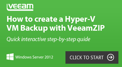 Hyper-V VM Backup with VeeamZIP step-by-step guide