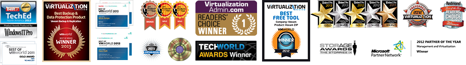 More than 80 of the virtualization industry's biggest awards