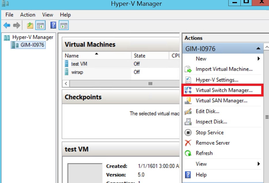 Hyper-V Virtual Switch Configuration Guide