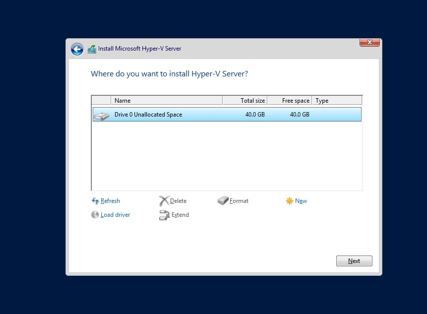 How to install hyper-v core step by step guide.