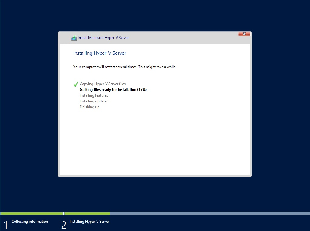 hyper-v server core how to connect to guest