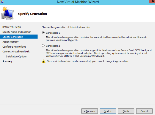 Step 4. Create a new VM on a Hyper-V host. Pic 2