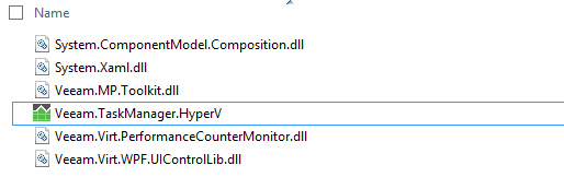 Hyper-V Task Manager installed files