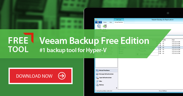 Free Hyper-V backup tool for Windows Server – Veeam