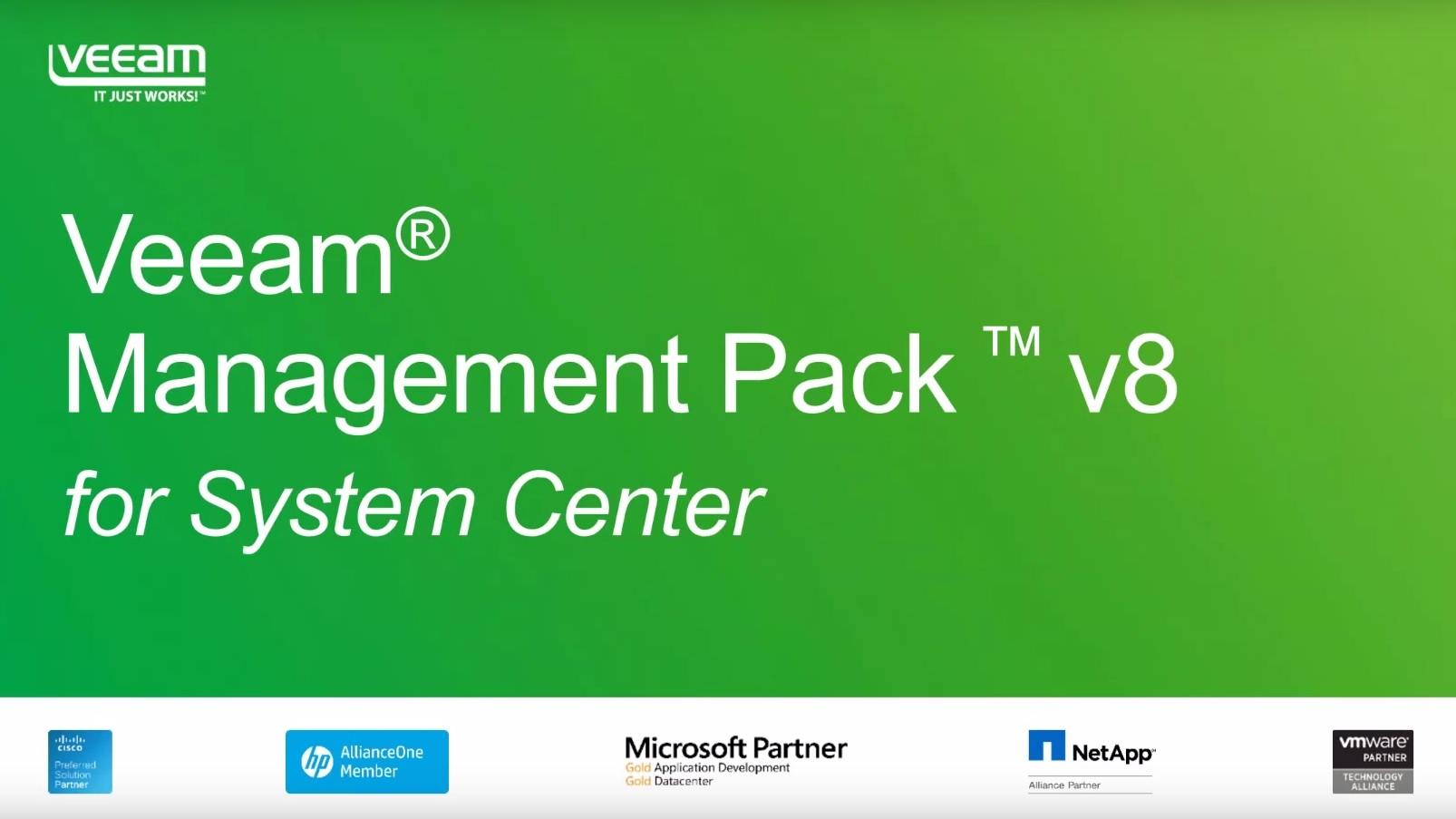 NEW Veeam Management Pack v8: Unleash the power of System Center for vSphere & Hyper-V
