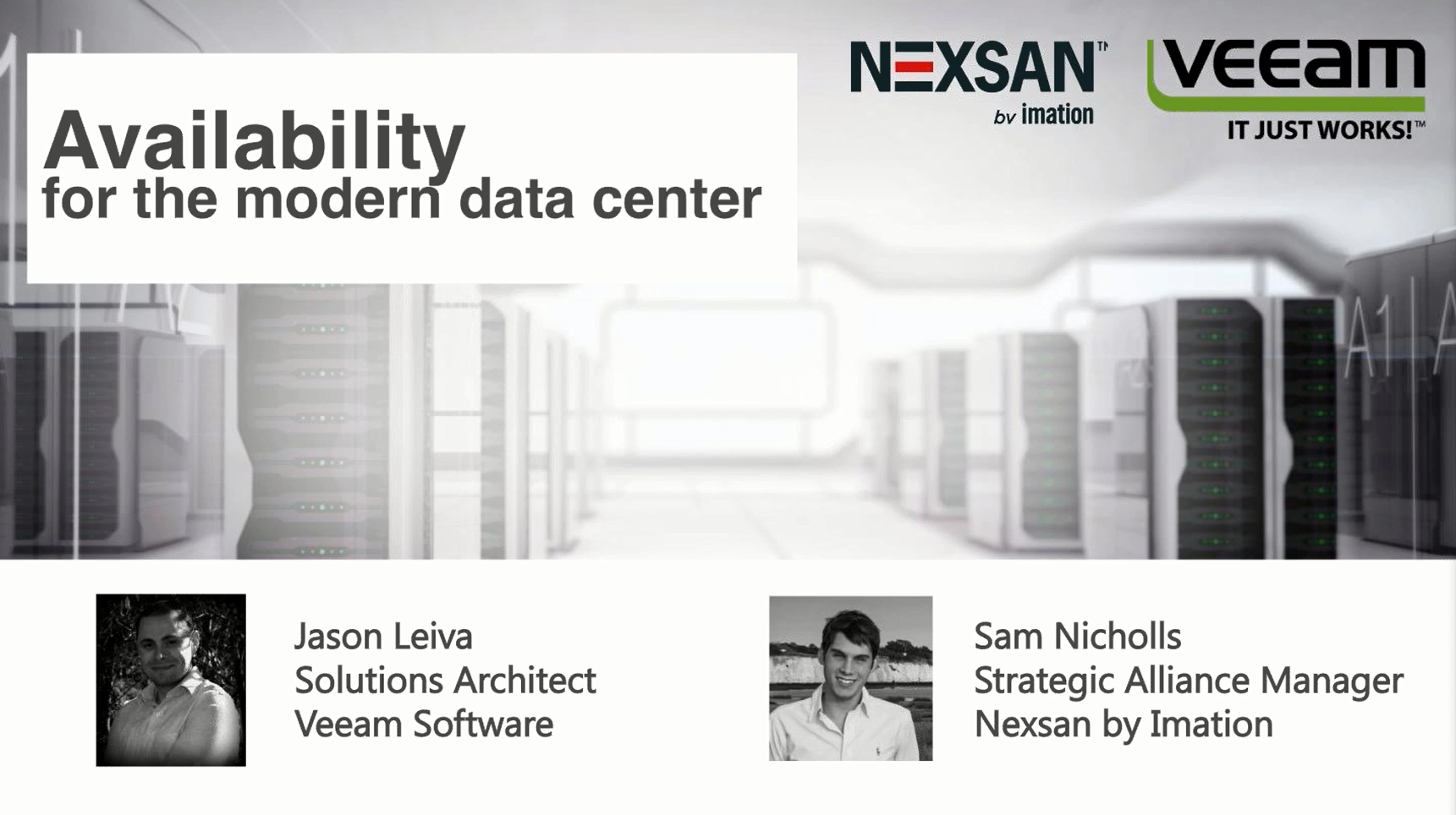 Nexsan by Imation and Veeam deliver High Availability for the Modern Data Center