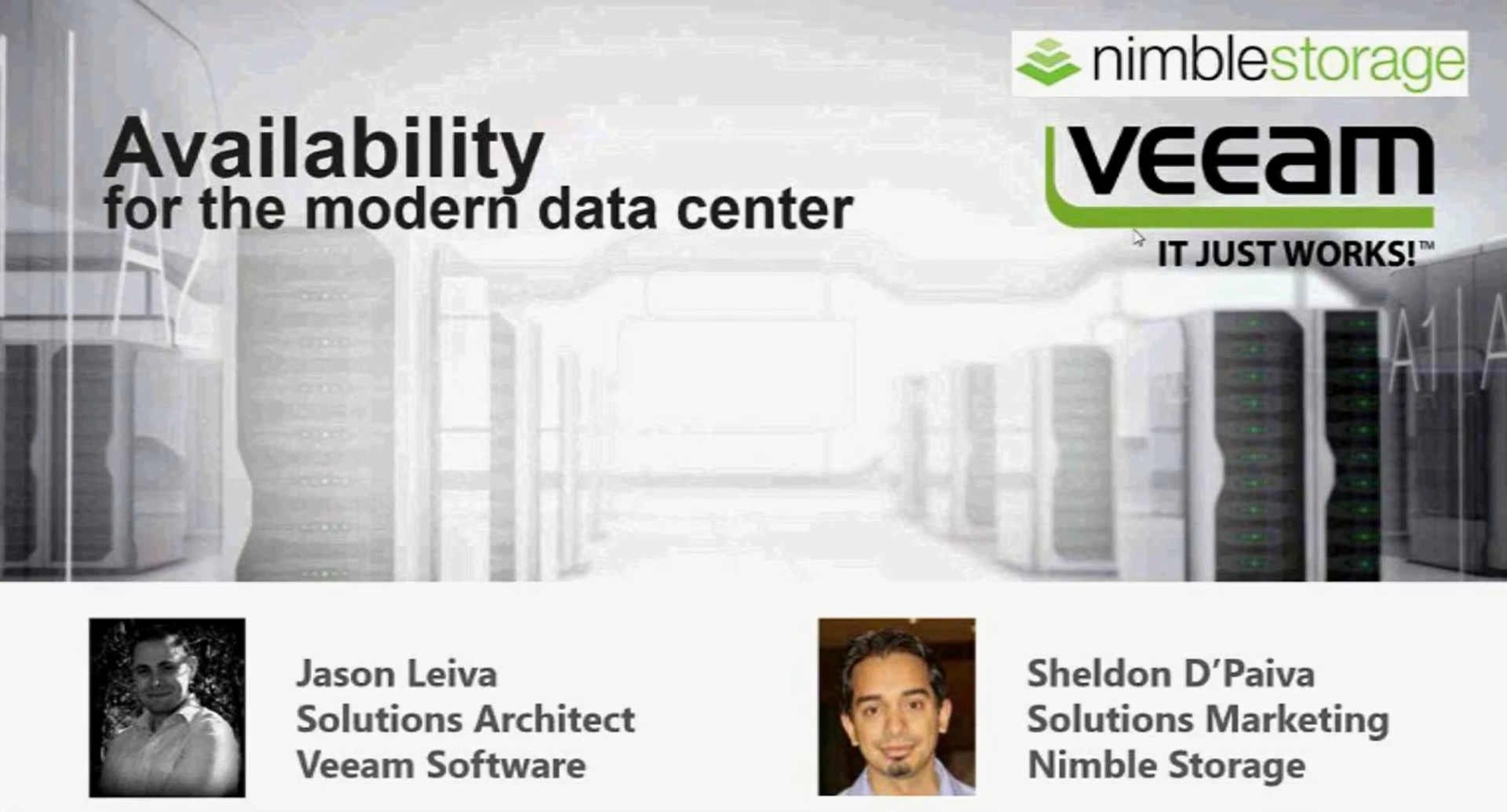 Modern Data Protection with Veeam and Nimble Storage