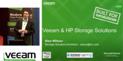Veeam On Tour London: Veeam & HP Storage solutions