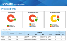 Veeam MP Protected VMs report