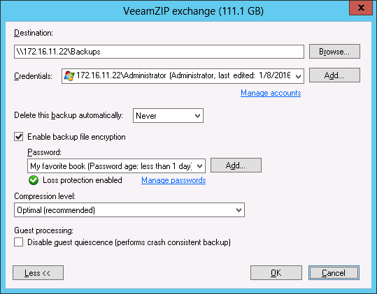 VeeamZIP: Backups on-the-fly
