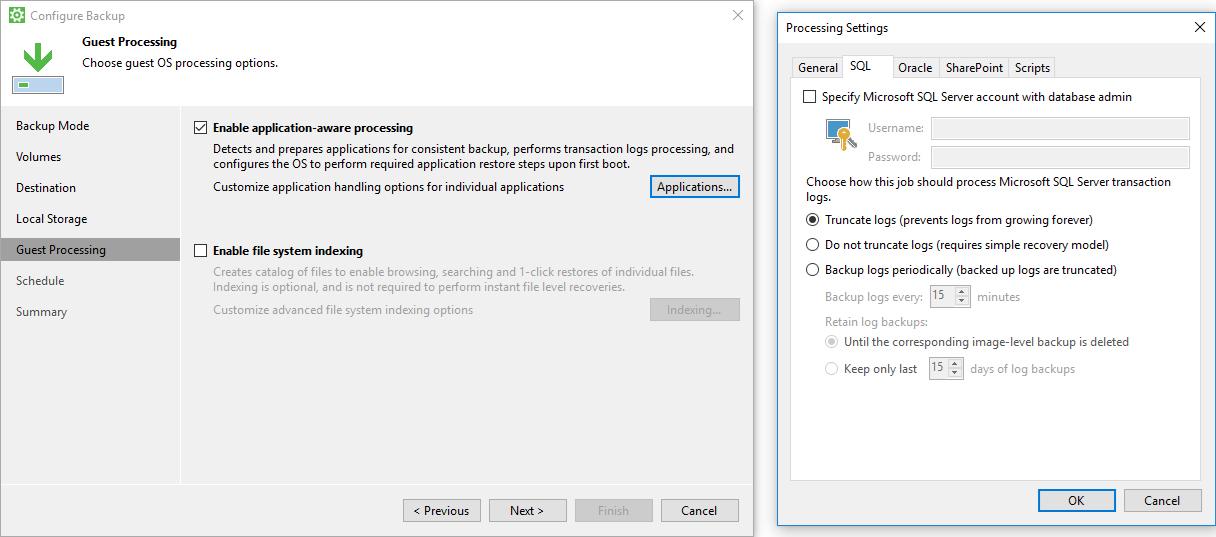 Soluzione di backup per server windows veeam agent for - Porta sql server ...