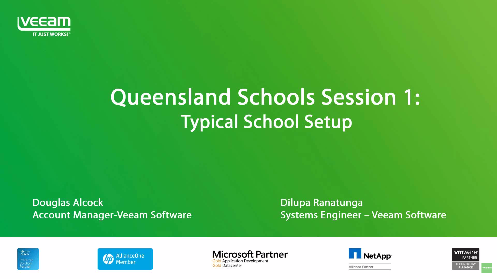 Queensland Schools Session ONE: Typical School Setup