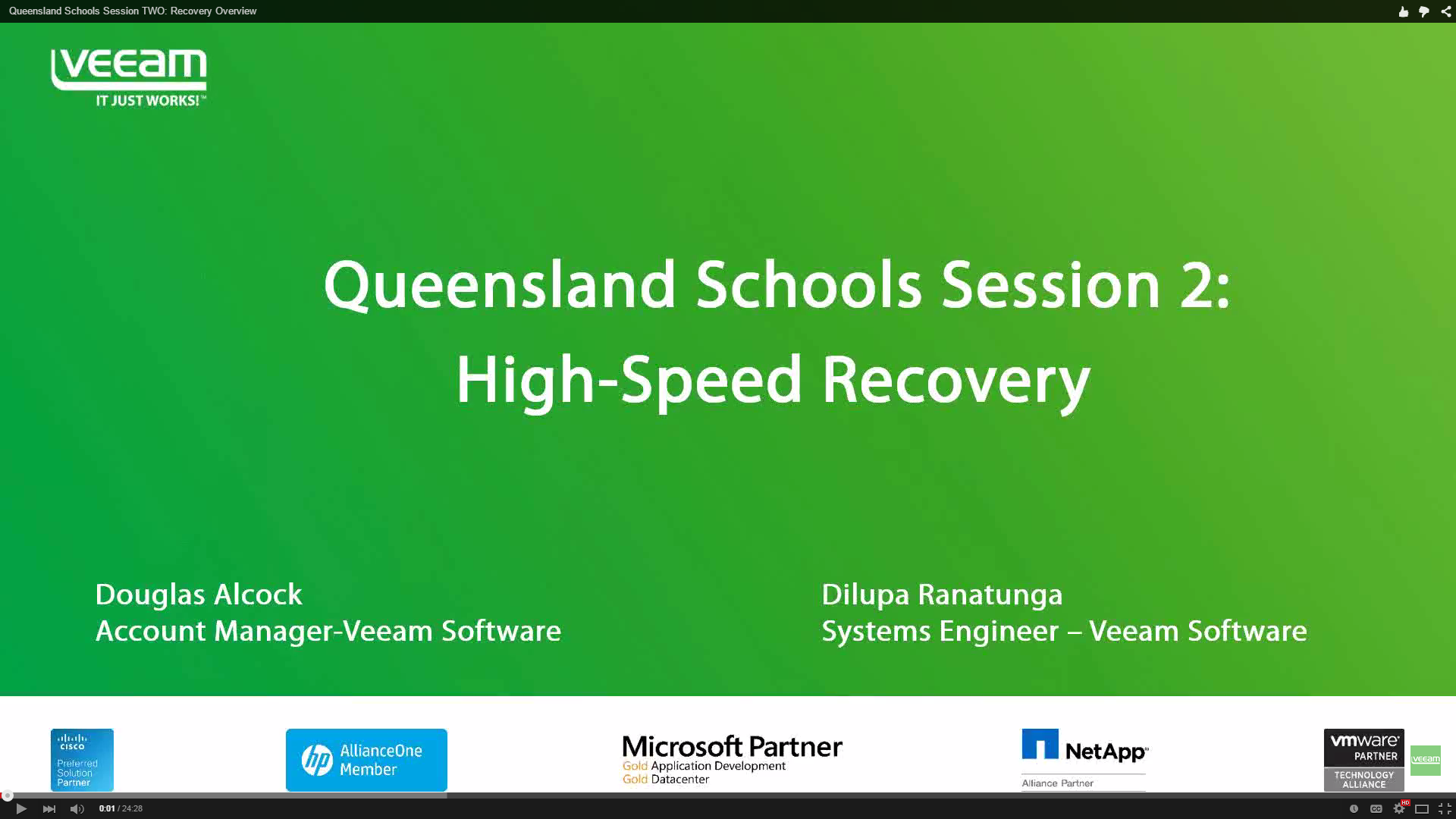 Queensland Schools Session TWO: Recovery Overview