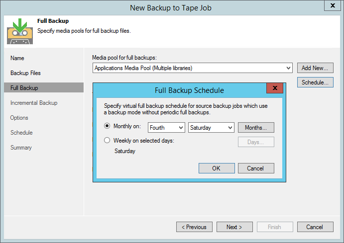 Virtual full helps you optimize archiving forever incremental backup chains to tape.