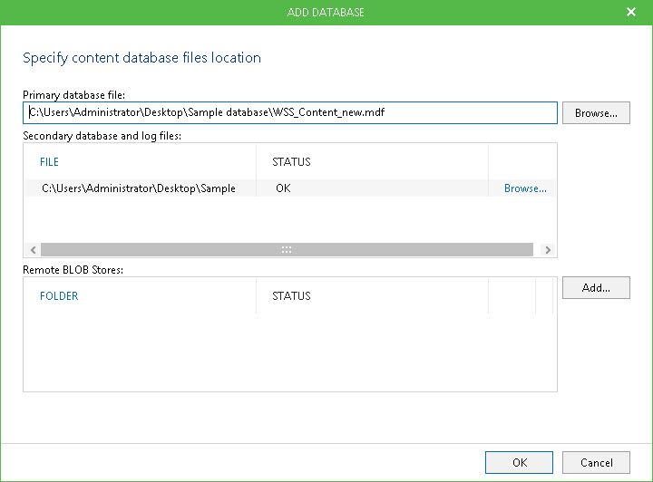 Veeam Explorer for SharePoint è uno strumento integrato che consente di sfogliare i database di contenuti Microsoft SharePoint all