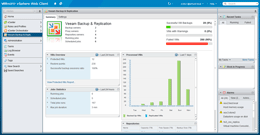 You can now monitor your backup infrastructure using Veeam plug-in for vSphere Web Client, examine job status and backup resources directly from vSphere.