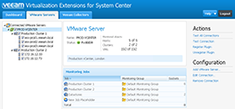 Managing vCenter Server and vSphere host connections