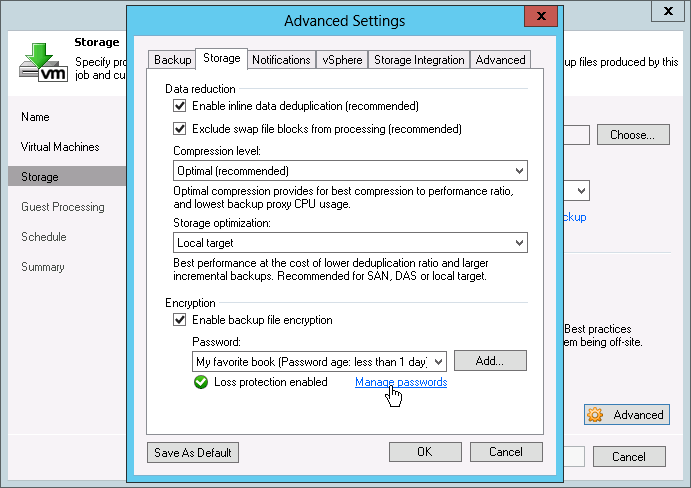 Veeam Backup & Replication secures your data with end-to-end AES 256 encryption
