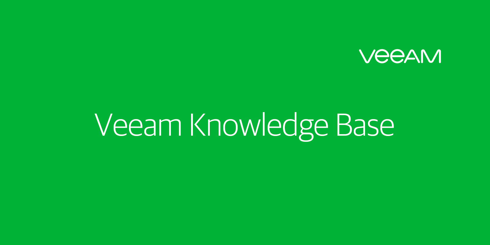 KB1154: How to configure Veeam for rotated media