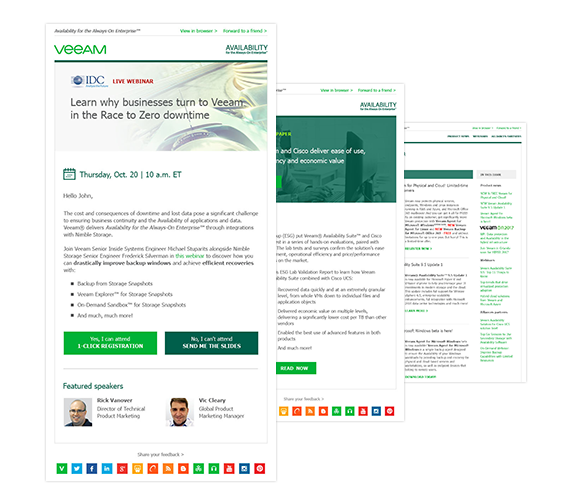 veeam delivers the information you need to make informed decisions and