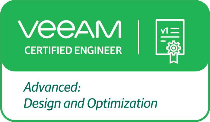 Veeam Certified Engineer Engineer - Advanced: Design & Optimization