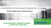Análisis exhaustivo especial de Veeam Application-Item Recovery