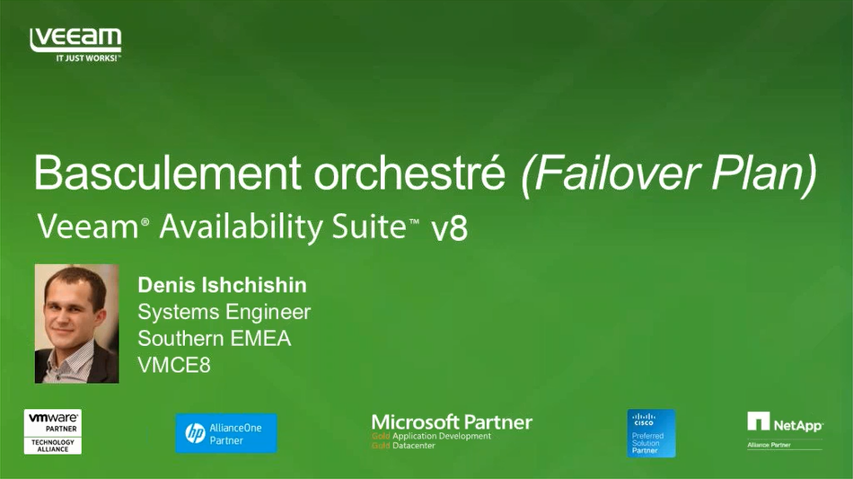Le quart d'heure Veeam: Failover Plan