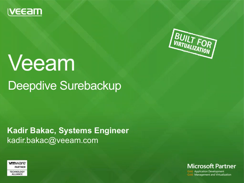 Veeam ile çay molası: Surebackup & Virtual Lab