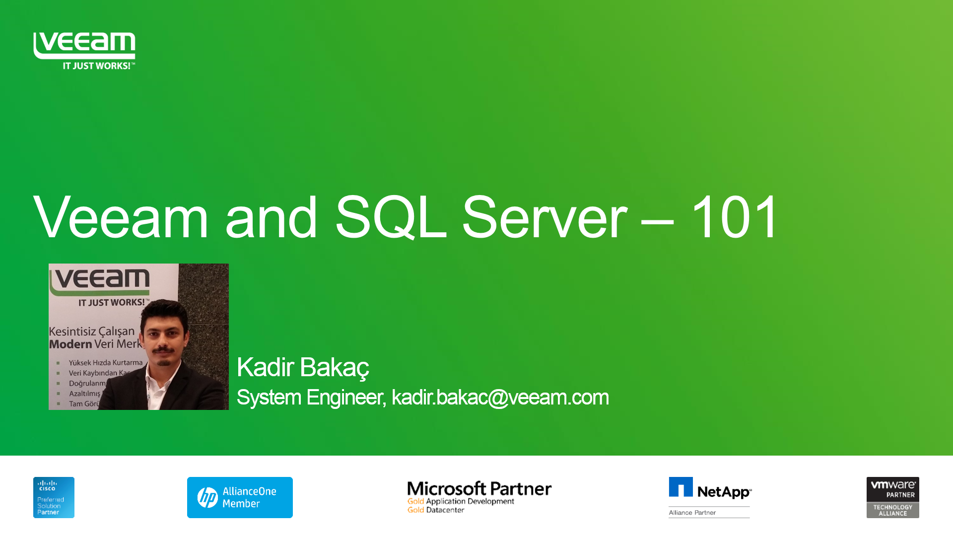 BÖLÜM 1: Veeam ve Microsoft SQL Server– 101