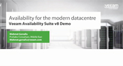 Product demo Veeam Backup & Replication v8 (Middle East/India)