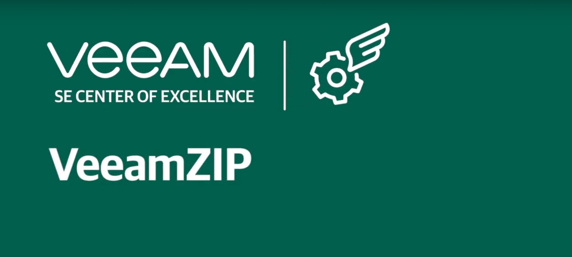 What is VeeamZIP and when can you leverage it?