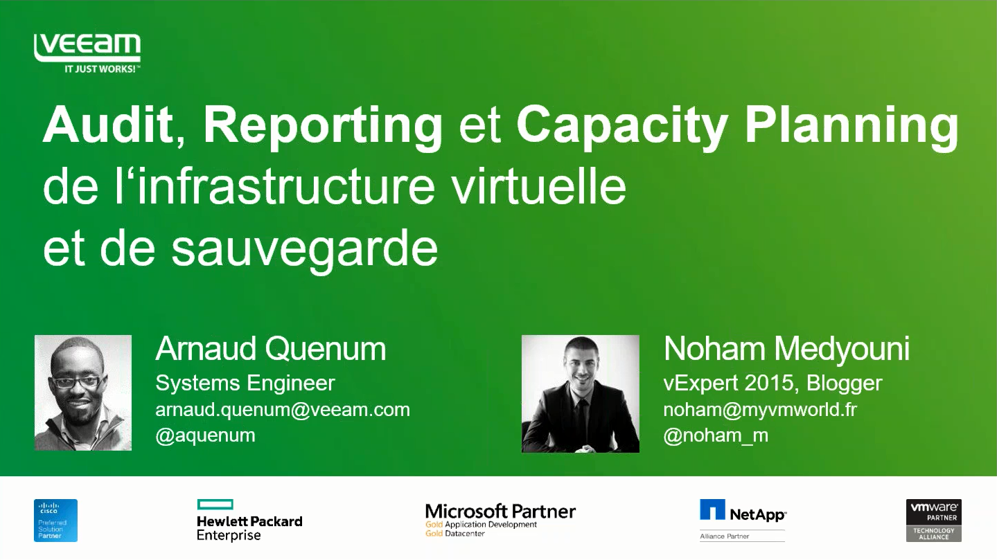 Audit, Reporting et Capacity Planning de l'infrastructure virtuelle