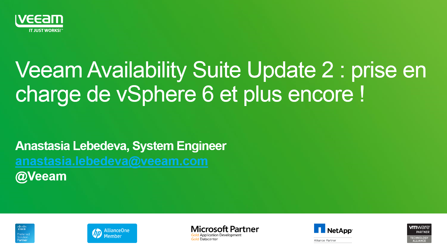 Veeam Availability Suite v8 Update 2: Le support complet de vSphere 6 et encore plus!