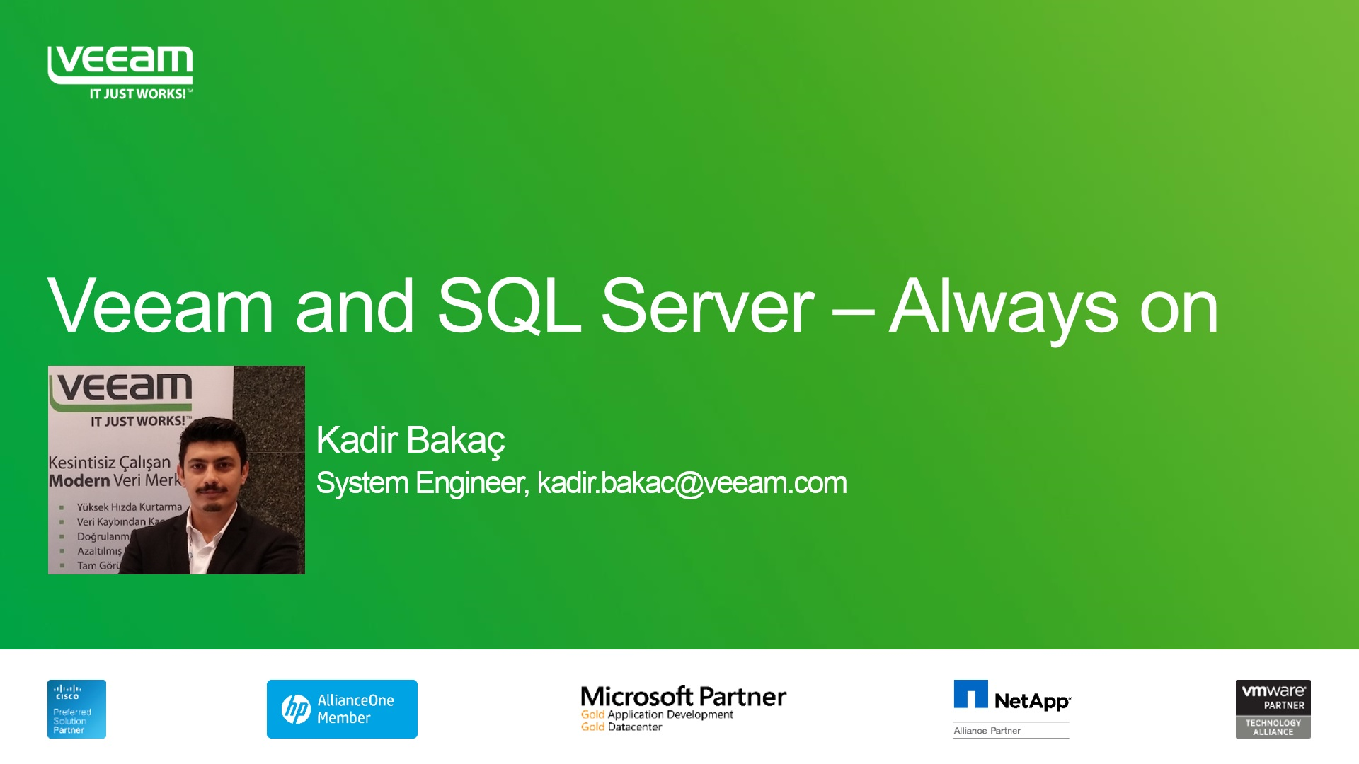 BÖLÜM 2: Veeam ve Microsoft SQL Server – Always-On