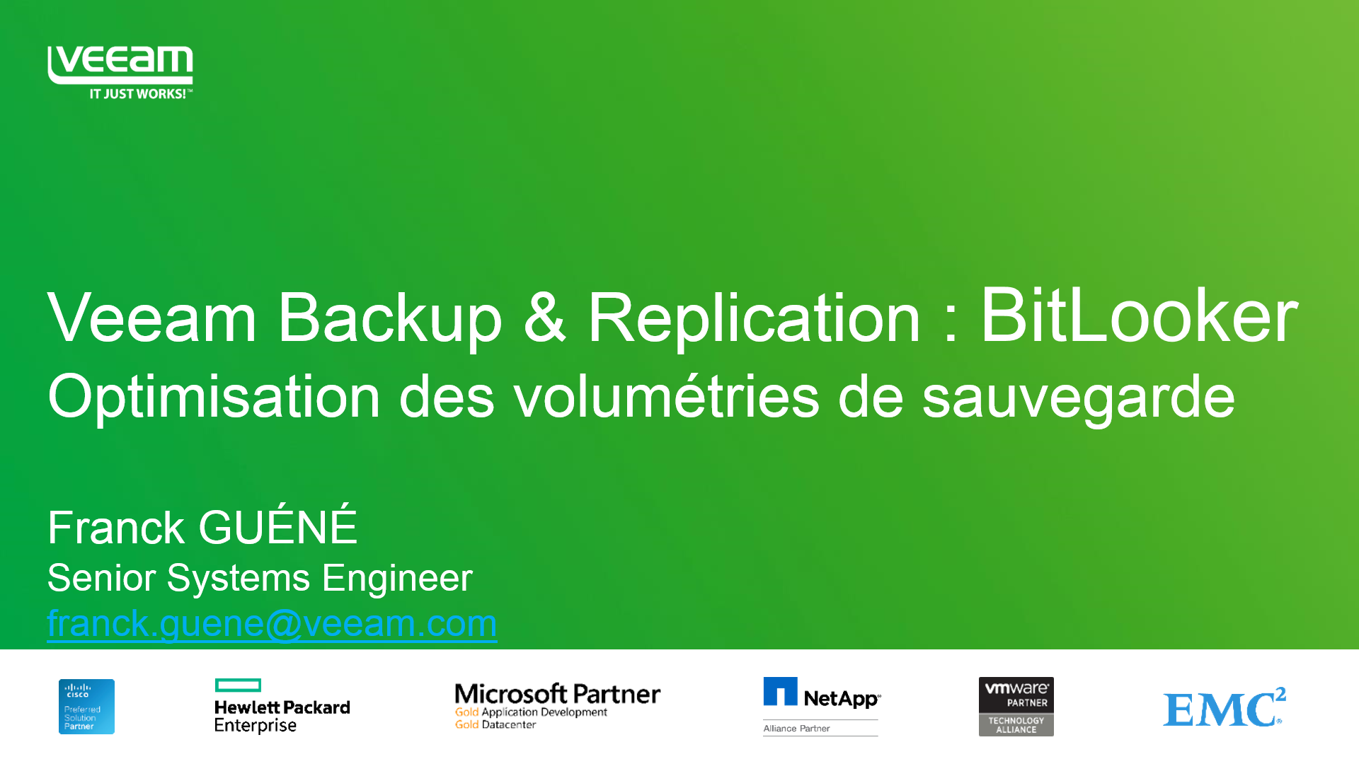 Le quart d'heure Veeam : Bitlooker