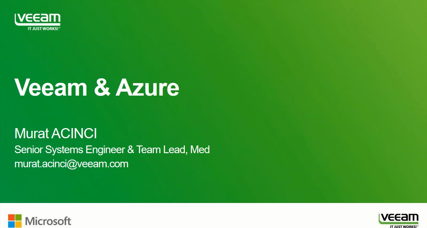 Veeam ile çay molası: Microsoft Azure uzerinde Veeam Cloud Connect Demo !