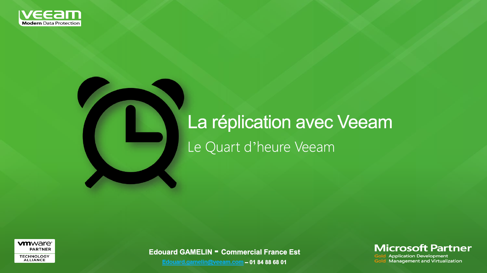 Le Quart d'Heure Veeam: La réplication avec Veeam Backup & Replication