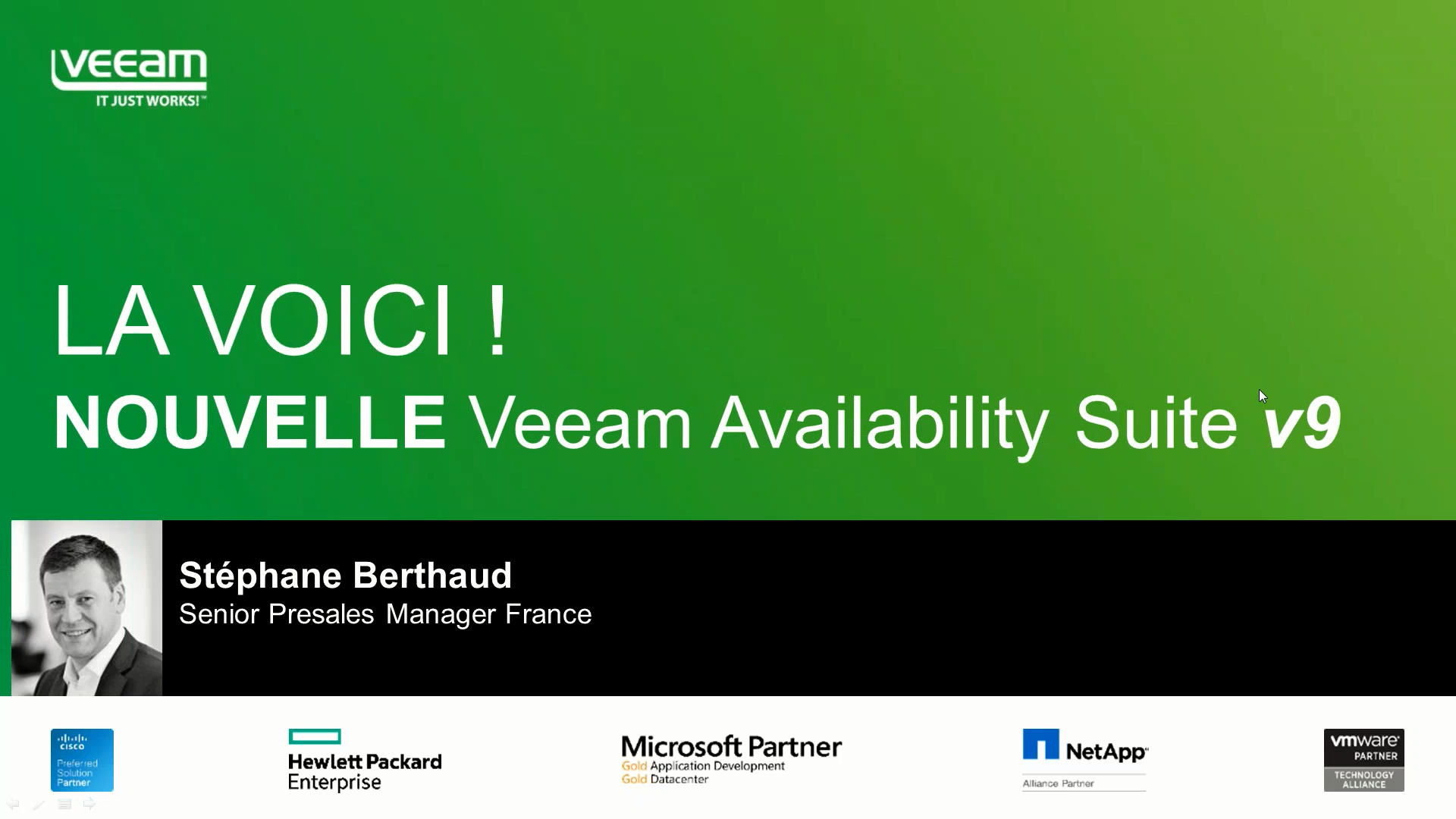 NOUVELLE Veeam Availability Suite v9