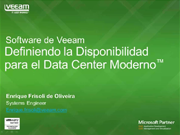 Definiendo la Disponibilidad para el Data Center Moderno