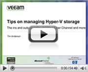 5 tips for managing storage in a Microsoft Hyper-V environment
