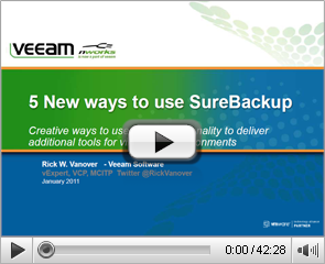 5 New ways to use SureBackup