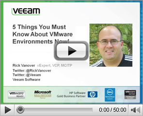5 Things You Must Know About VMware Environments Now!