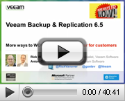 Veeam Backup & Replication 6.5 for customers