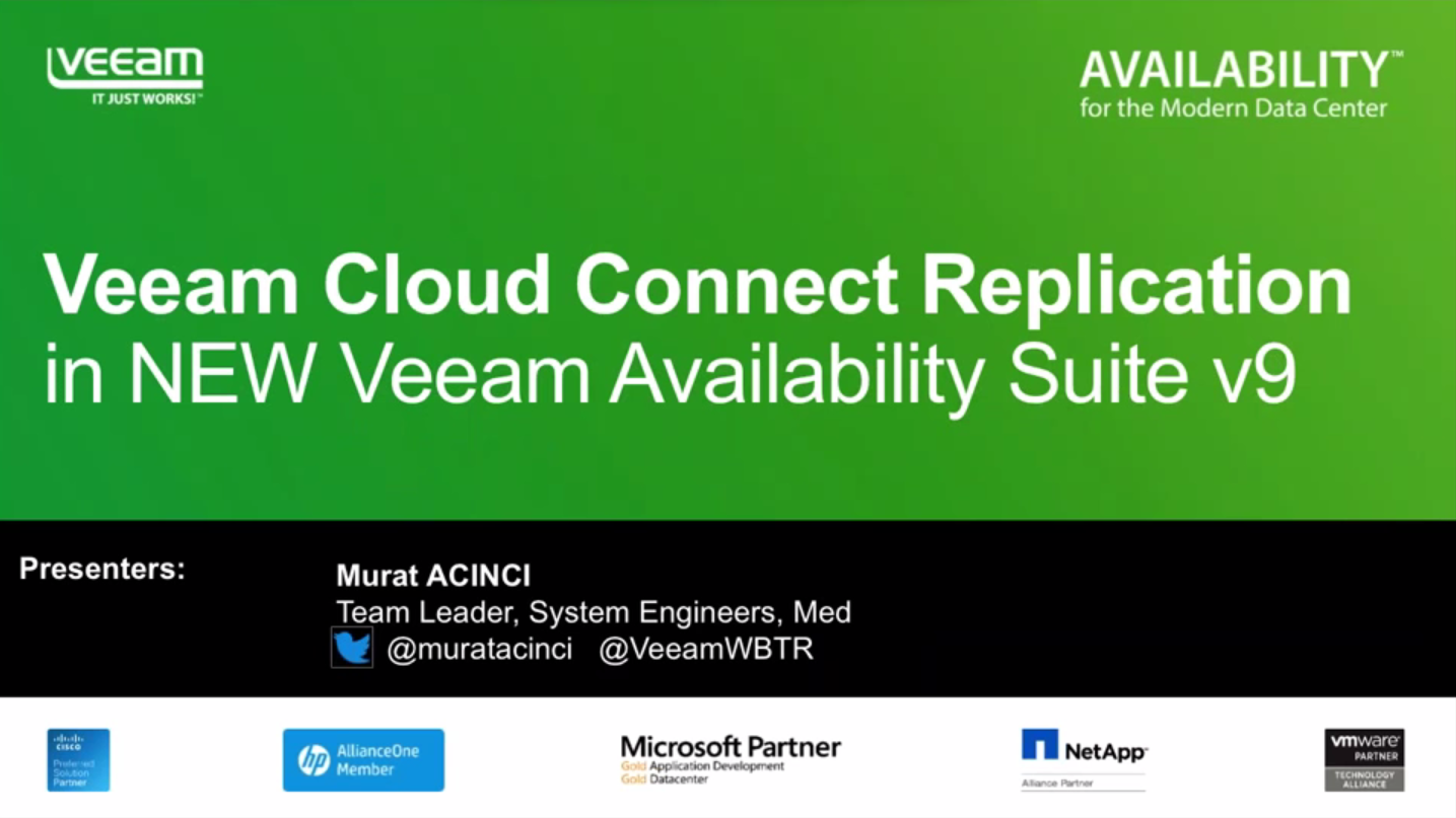 Veeam® Availability Suite™ v9, Veeam Cloud Connect ile Bulut tabanlı Felaket Kurtarma