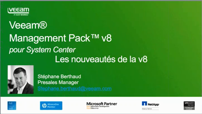 NOUVEAU Veeam Management Pack v8